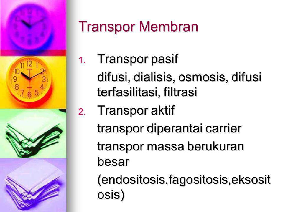Transpor Membran Transpor pasif