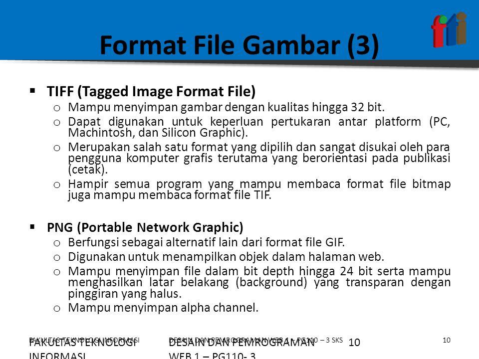Format File Gambar (3) TIFF (Tagged Image Format File)