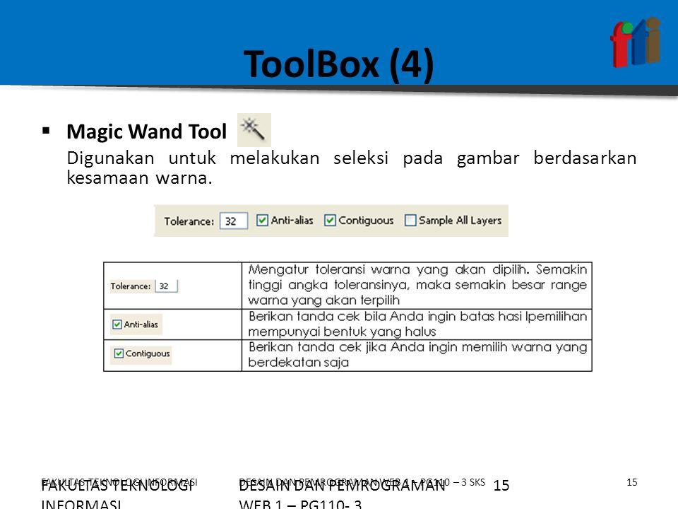 ToolBox (4) Magic Wand Tool