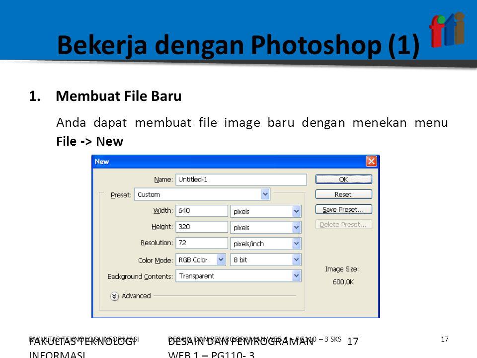 Bekerja dengan Photoshop (1)