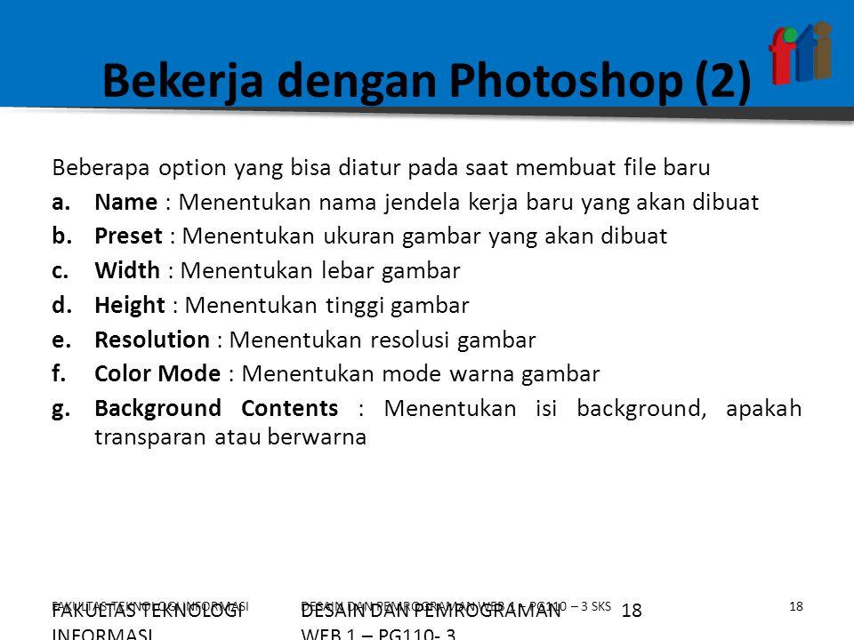Bekerja dengan Photoshop (2)