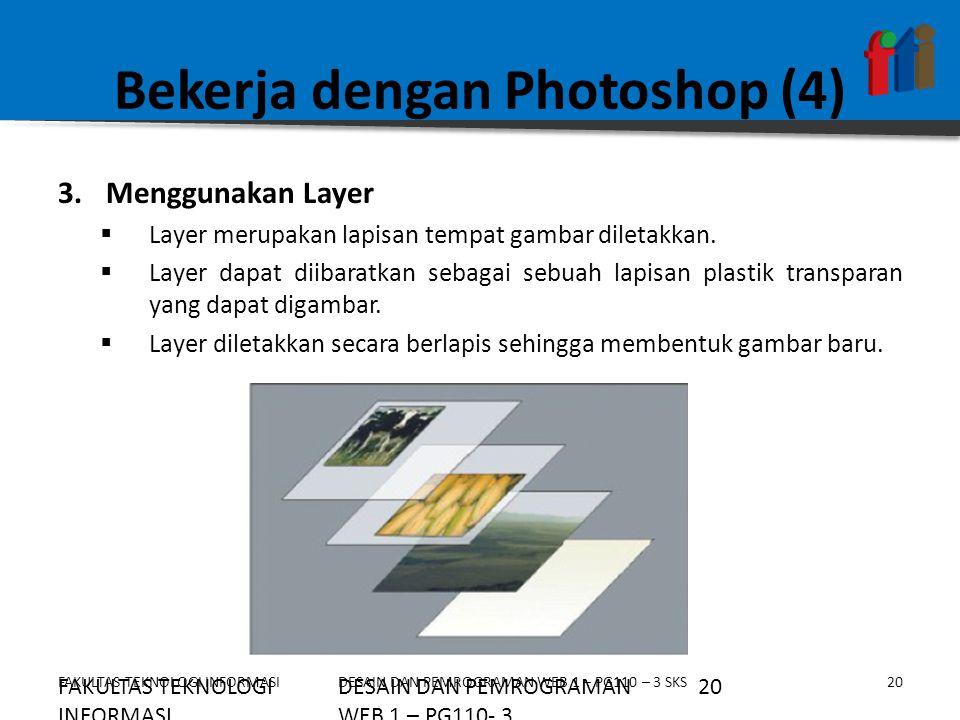 Bekerja dengan Photoshop (4)
