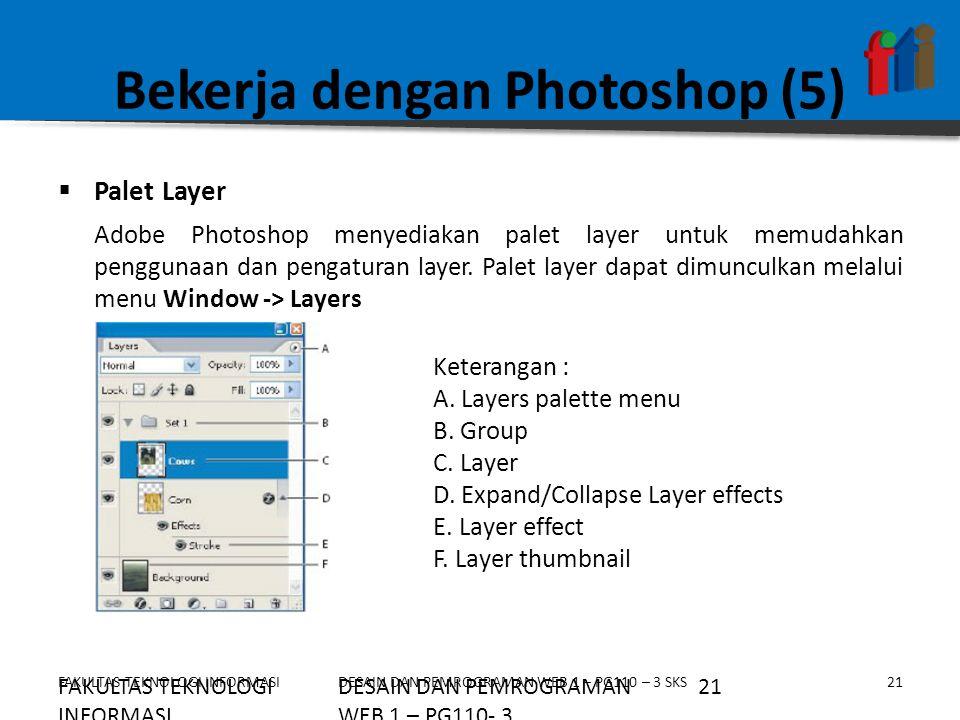 Bekerja dengan Photoshop (5)