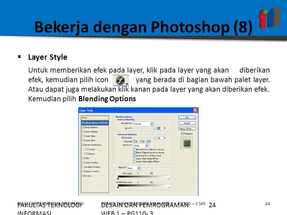 Bekerja dengan Photoshop (8)