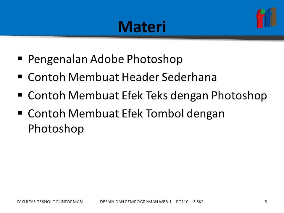 Materi Pengenalan Adobe Photoshop Contoh Membuat Header Sederhana