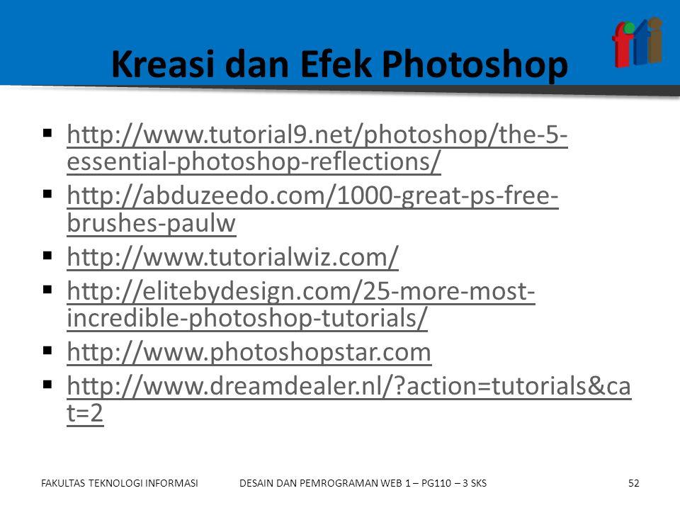 Kreasi dan Efek Photoshop