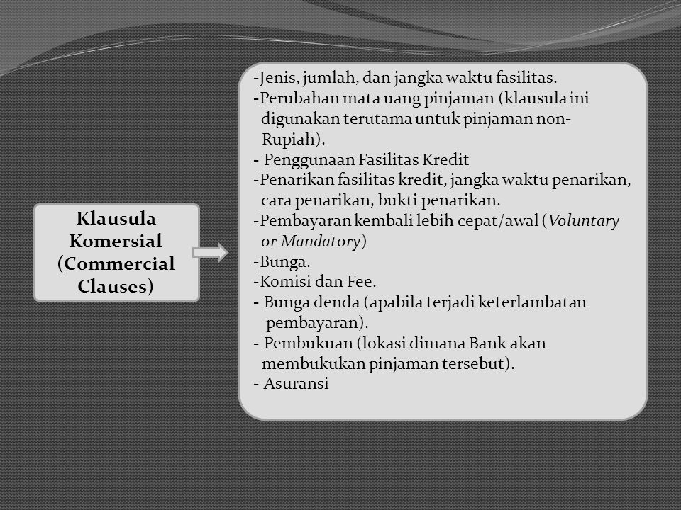 Klausula Komersial (Commercial Clauses)
