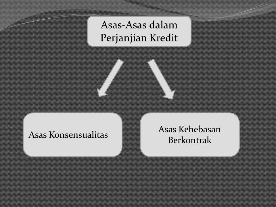 Asas-Asas dalam Perjanjian Kredit