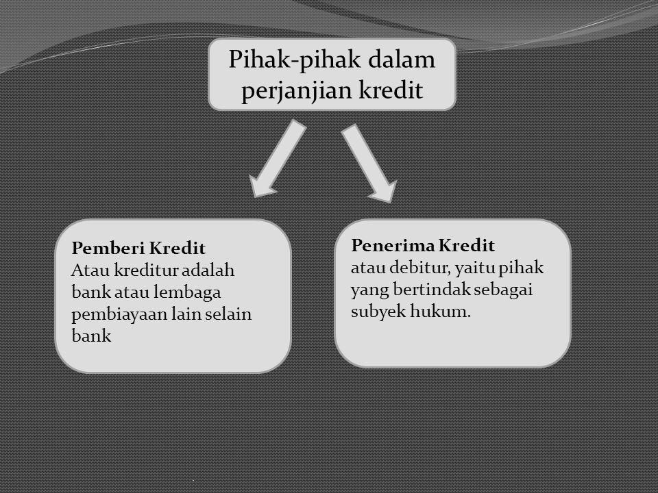 Pihak-pihak dalam perjanjian kredit