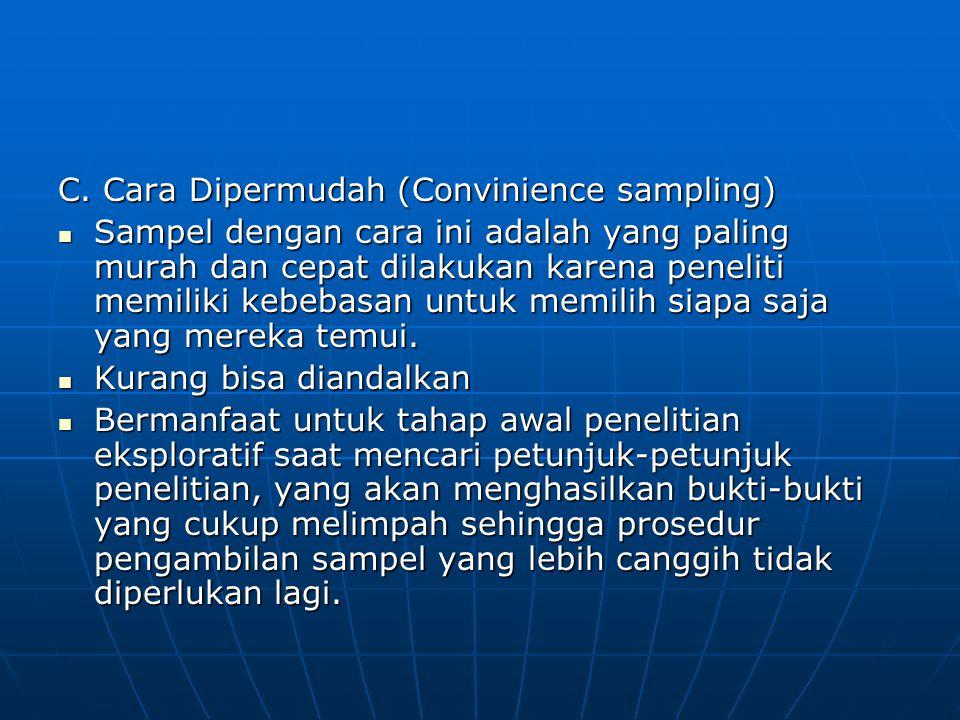 C. Cara Dipermudah (Convinience sampling)