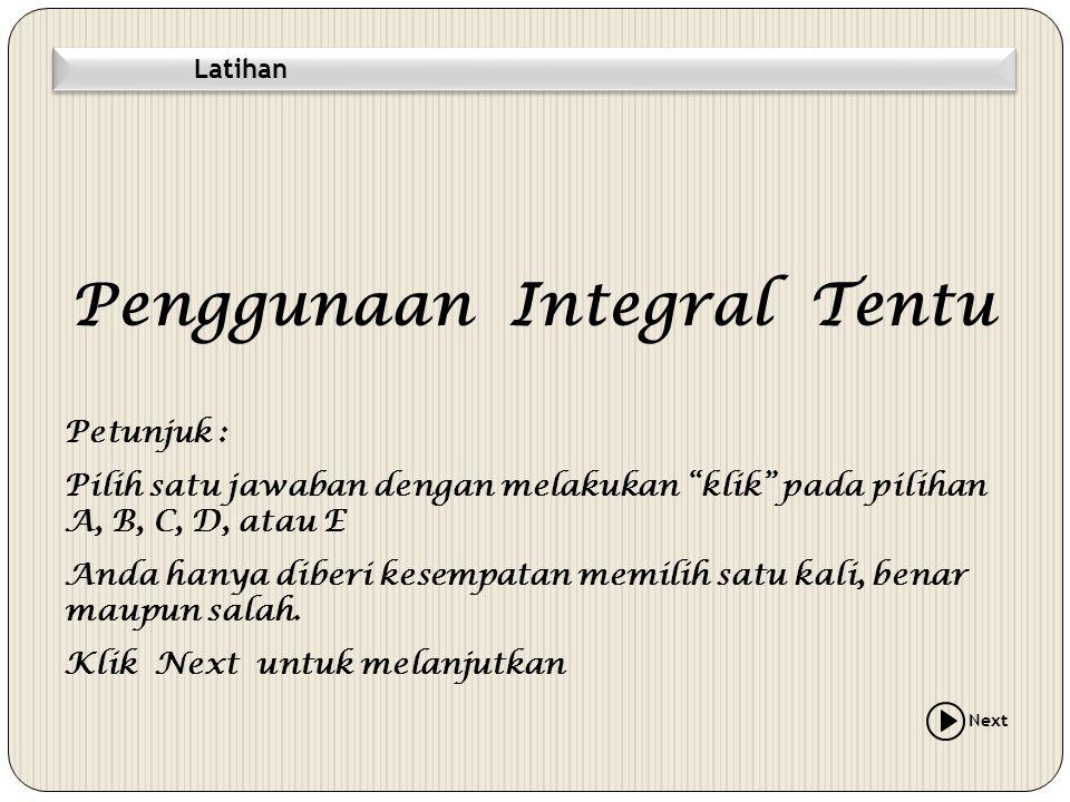 Penggunaan Integral Tentu