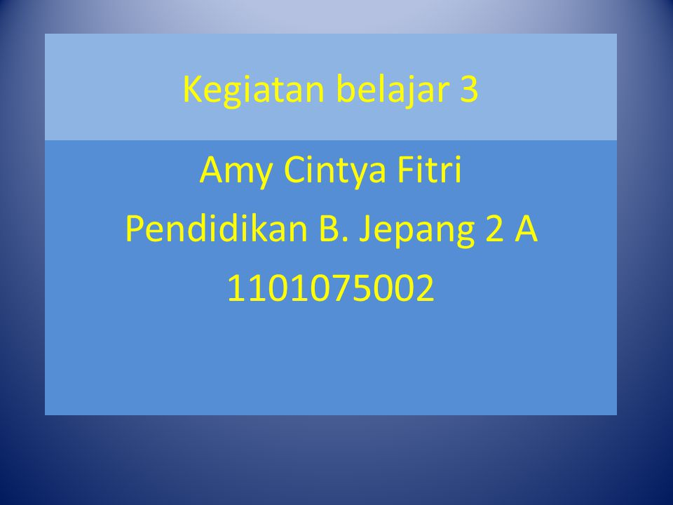 Amy Cintya Fitri Pendidikan B. Jepang 2 A 1101075002