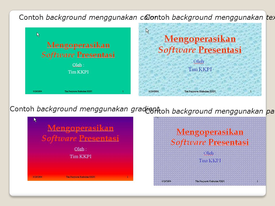 Contoh background menggunakan color