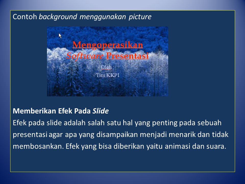 Contoh background menggunakan picture