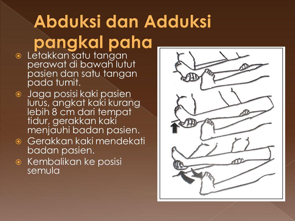 Abduksi dan Adduksi pangkal paha