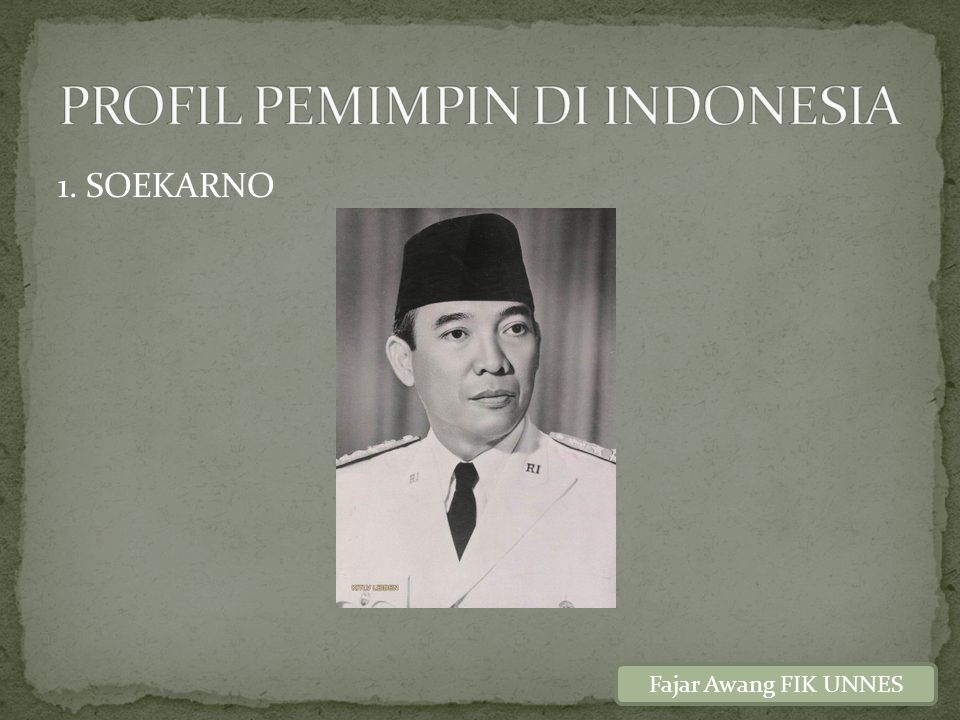 PROFIL PEMIMPIN DI INDONESIA