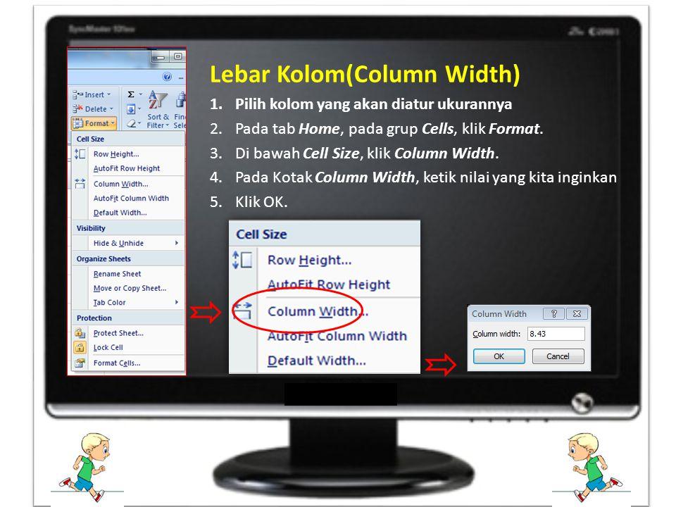 Lebar Kolom(Column Width)