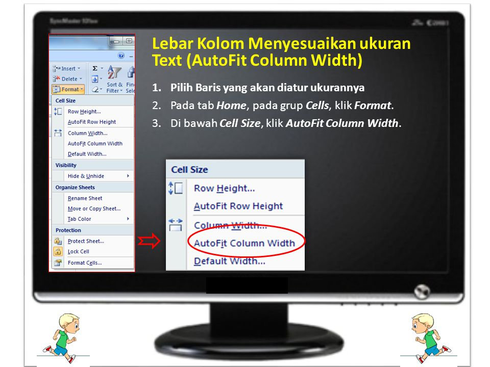 Lebar Kolom Menyesuaikan ukuran Text (AutoFit Column Width)
