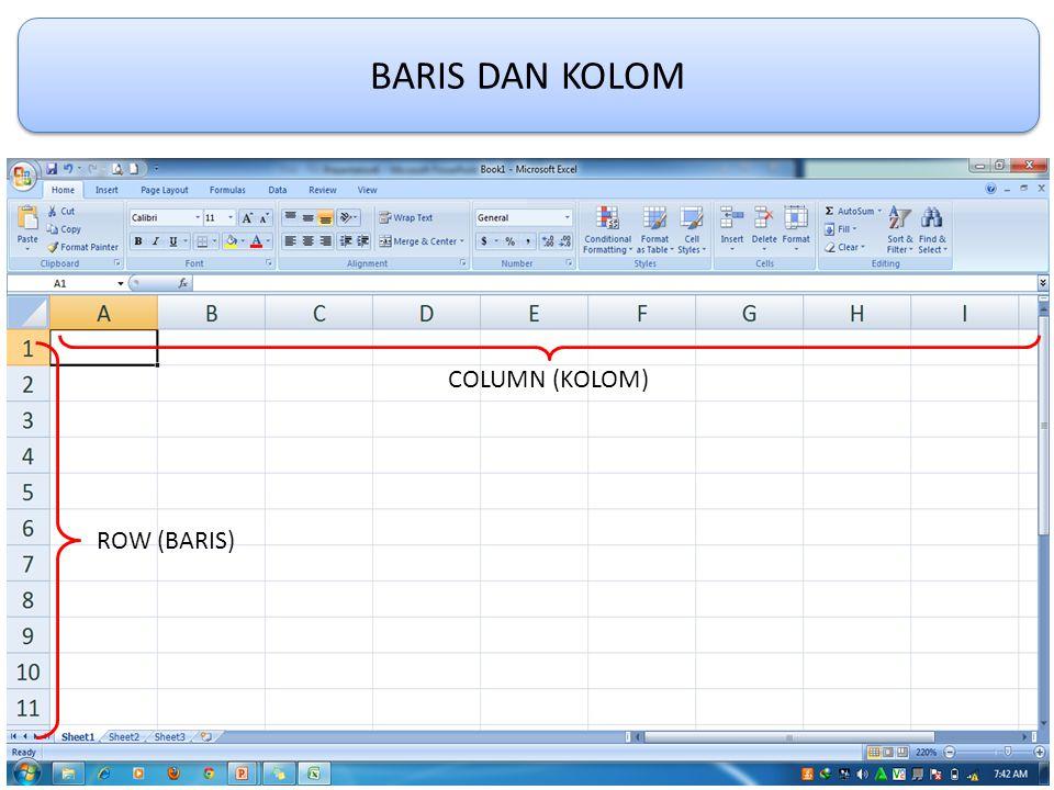 BARIS DAN KOLOM ROW (BARIS) COLUMN (KOLOM)