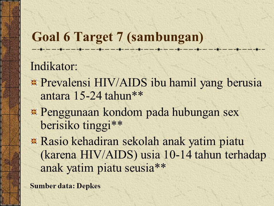 Goal 6 Target 7 (sambungan)