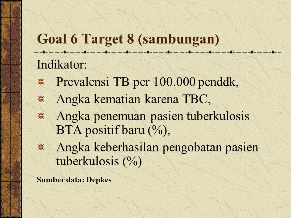 Goal 6 Target 8 (sambungan)