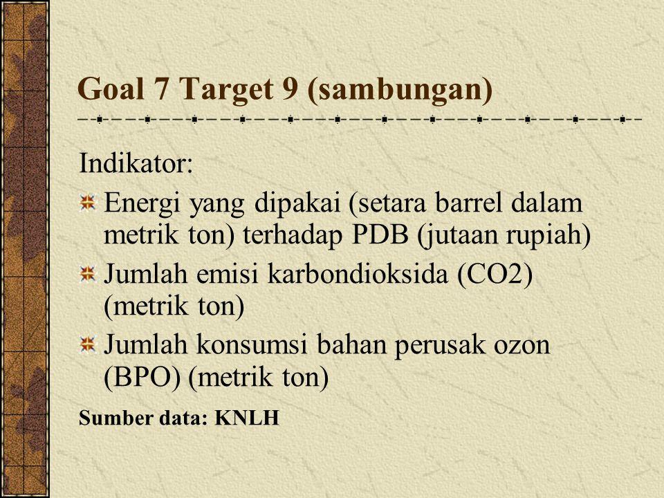 Goal 7 Target 9 (sambungan)