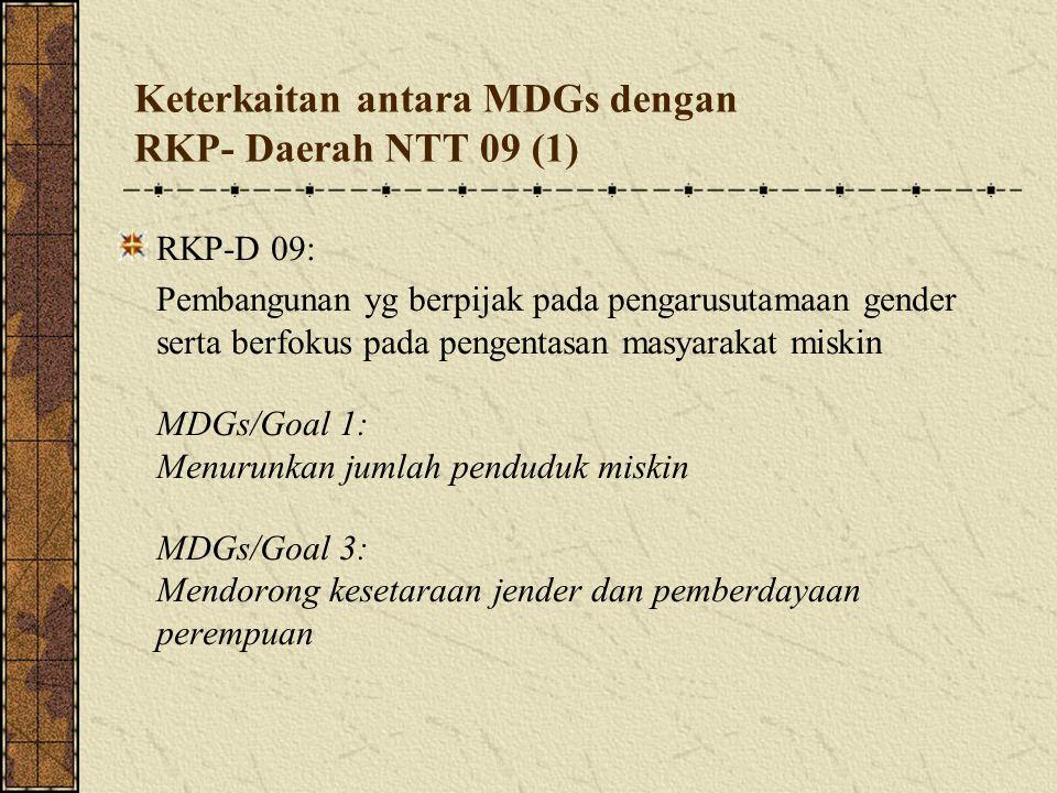 Keterkaitan antara MDGs dengan RKP- Daerah NTT 09 (1)