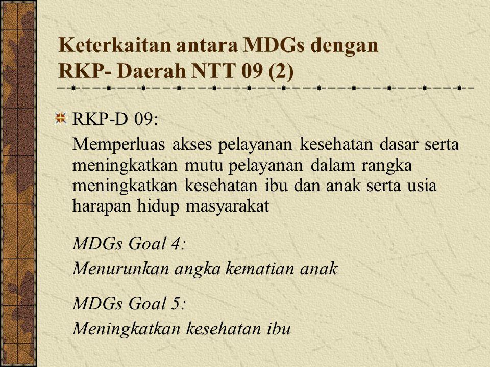 Keterkaitan antara MDGs dengan RKP- Daerah NTT 09 (2)