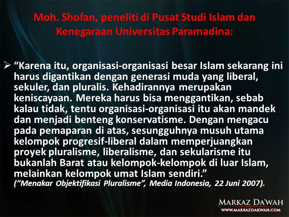 Moh. Shofan, peneliti di Pusat Studi Islam dan Kenegaraan Universitas Paramadina: