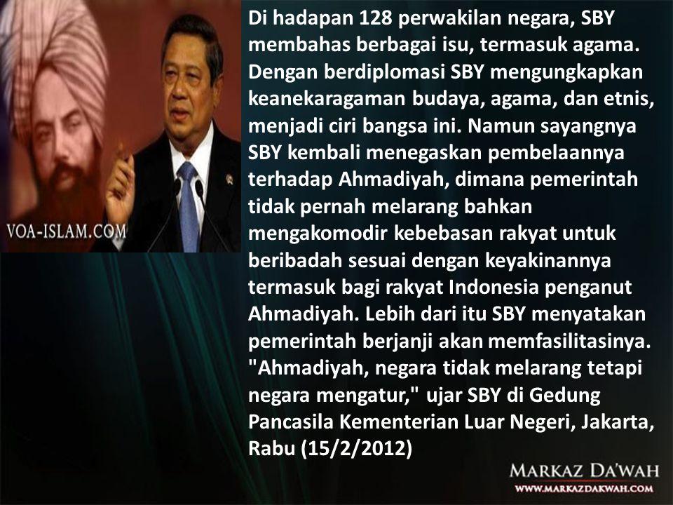 Di hadapan 128 perwakilan negara, SBY membahas berbagai isu, termasuk agama.