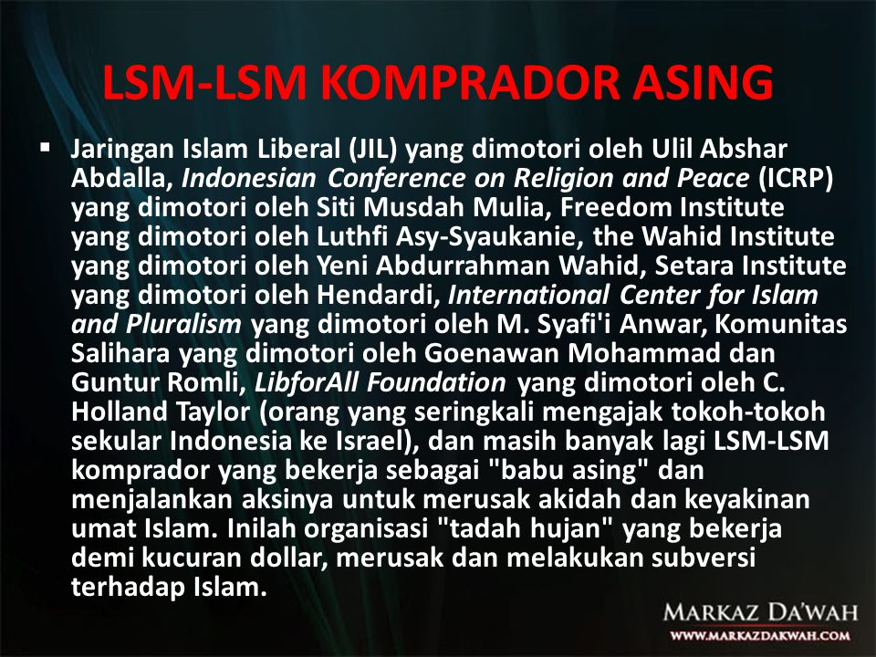 LSM-LSM KOMPRADOR ASING
