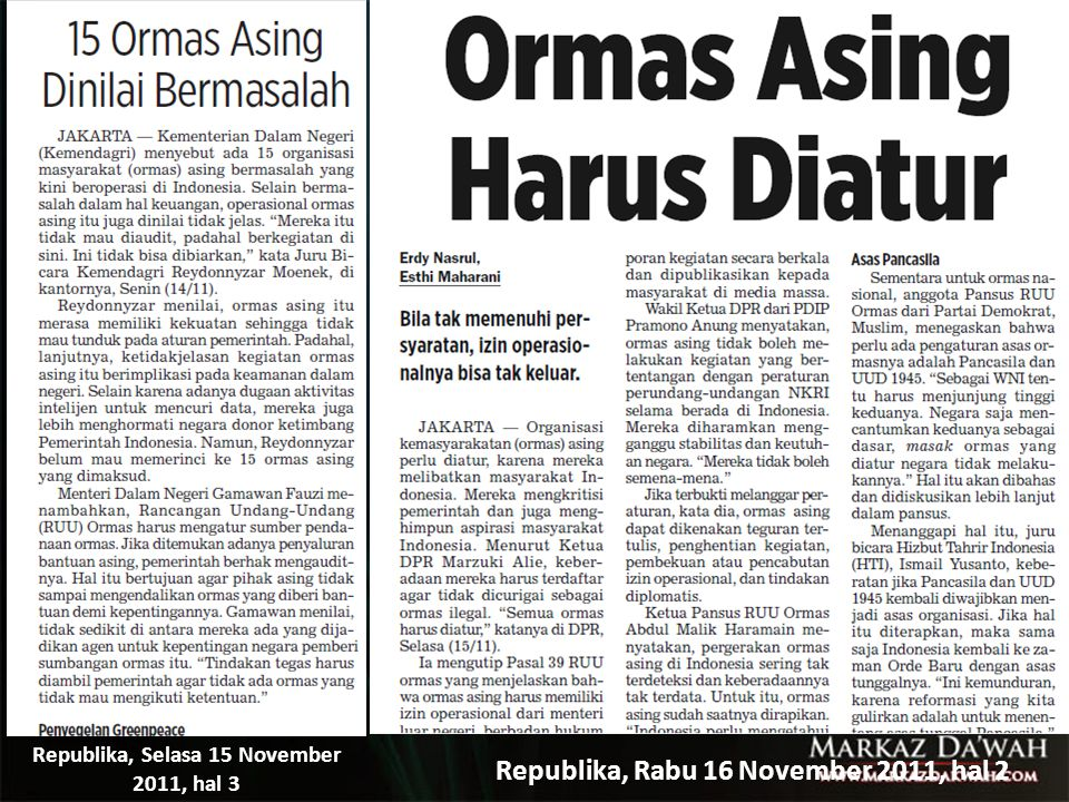 Republika, Rabu 16 November 2011, hal 2
