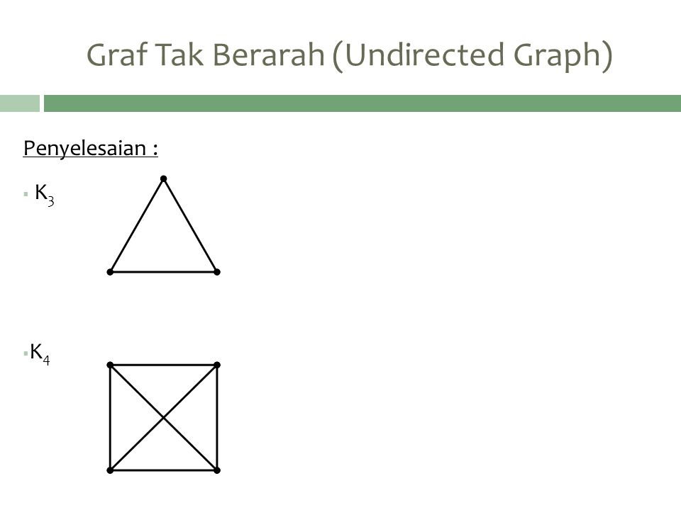 Graf Tak Berarah (Undirected Graph)