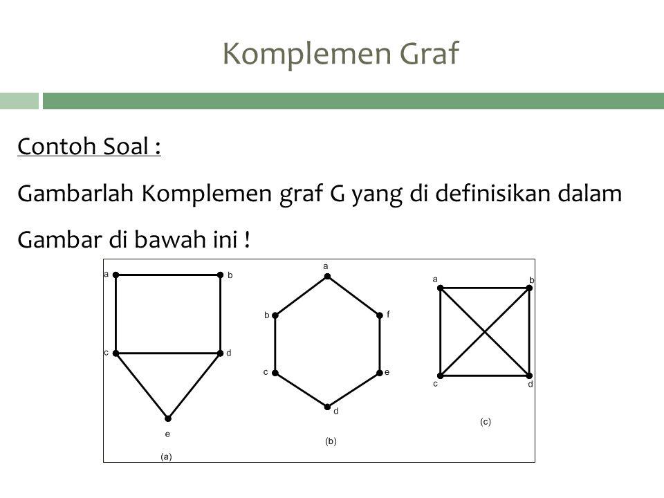 Komplemen Graf Contoh Soal :