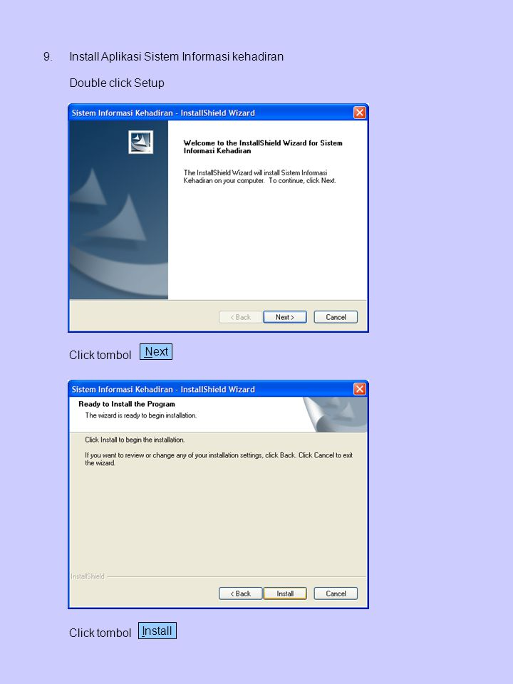 Install Aplikasi Sistem Informasi kehadiran
