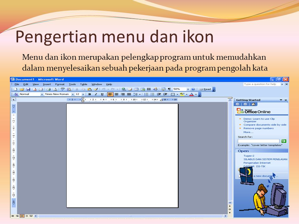 Pengertian menu dan ikon