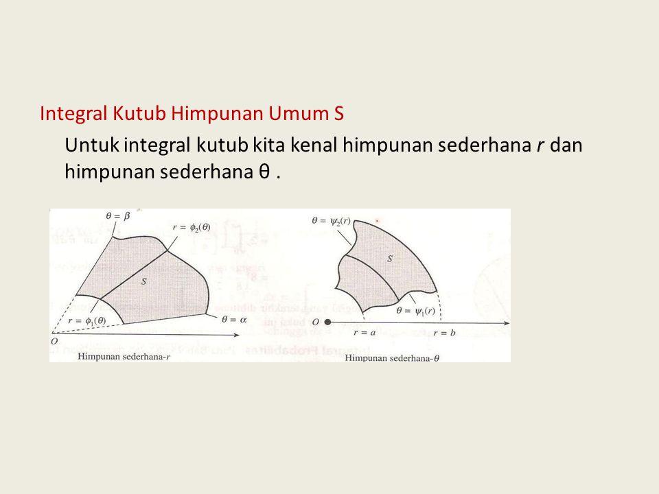 Integral Kutub Himpunan Umum S Untuk integral kutub kita kenal himpunan sederhana r dan himpunan sederhana θ .