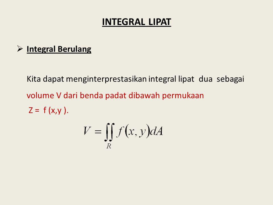 INTEGRAL LIPAT Integral Berulang