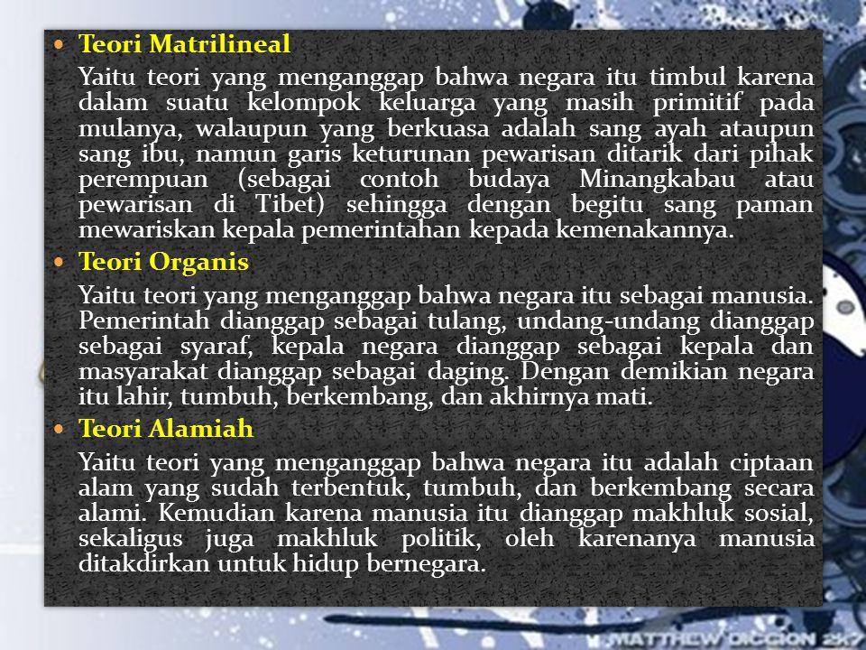 Teori Matrilineal