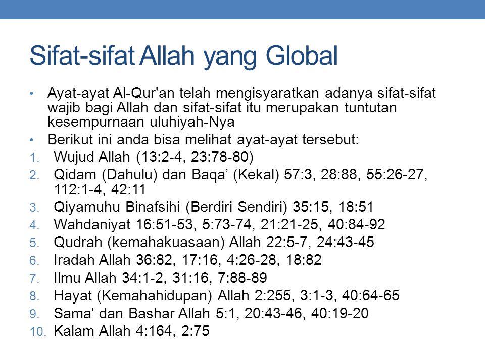 Sifat-sifat Allah yang Global