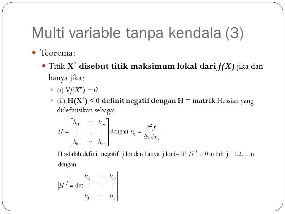 Multi variable tanpa kendala (3)