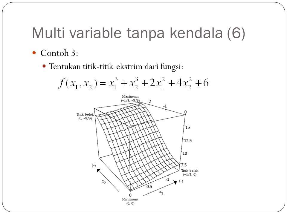 Multi variable tanpa kendala (6)