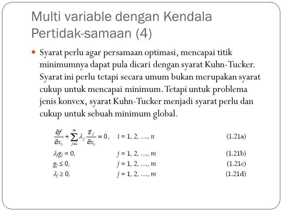 Multi variable dengan Kendala Pertidak-samaan (4)