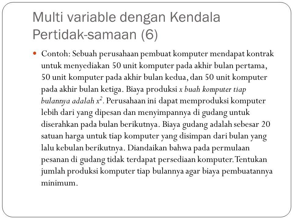 Multi variable dengan Kendala Pertidak-samaan (6)