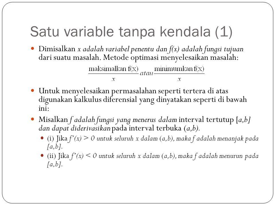 Satu variable tanpa kendala (1)