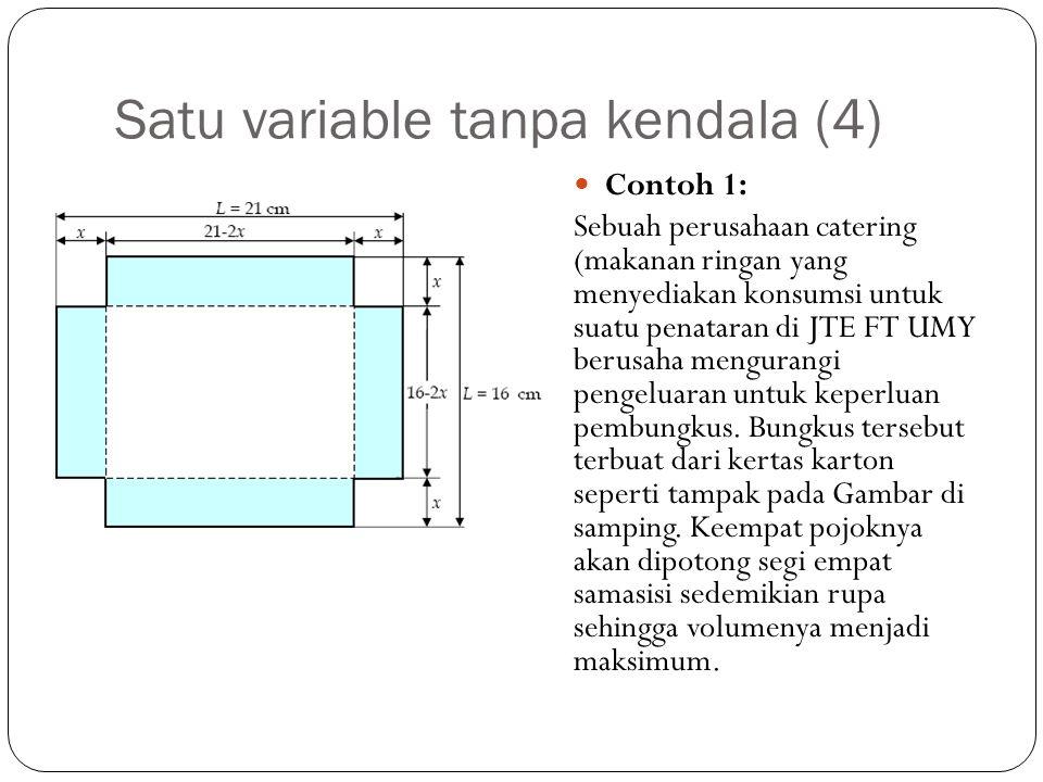 Satu variable tanpa kendala (4)