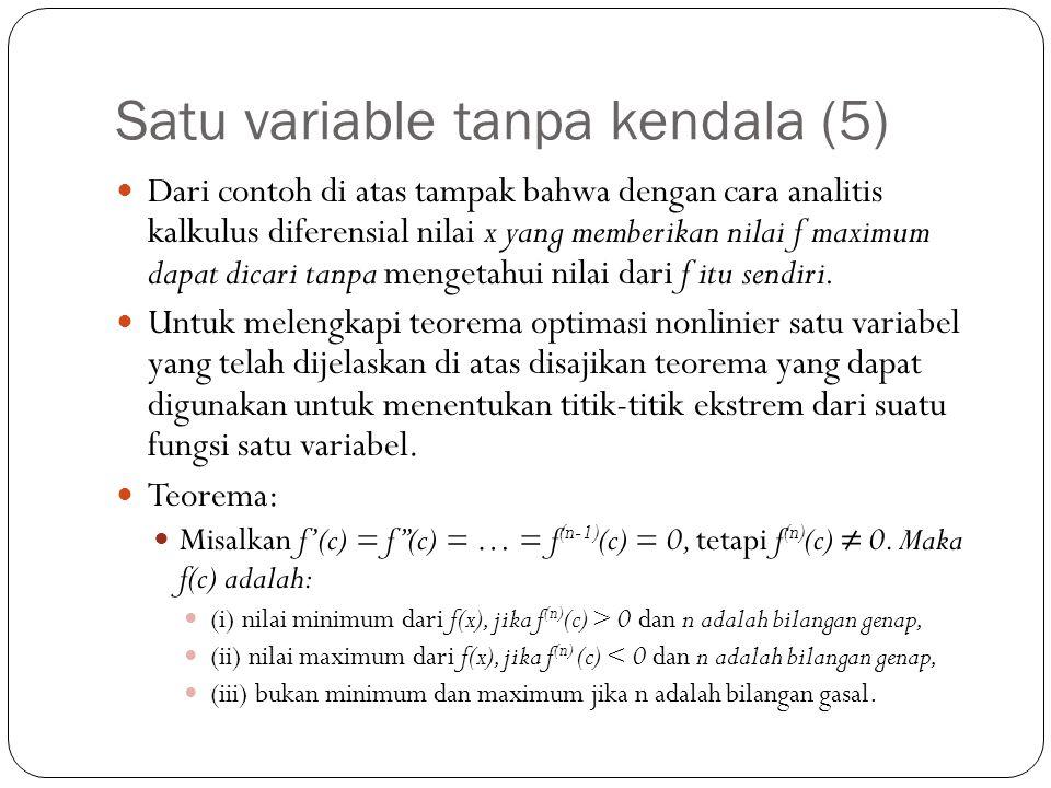 Satu variable tanpa kendala (5)