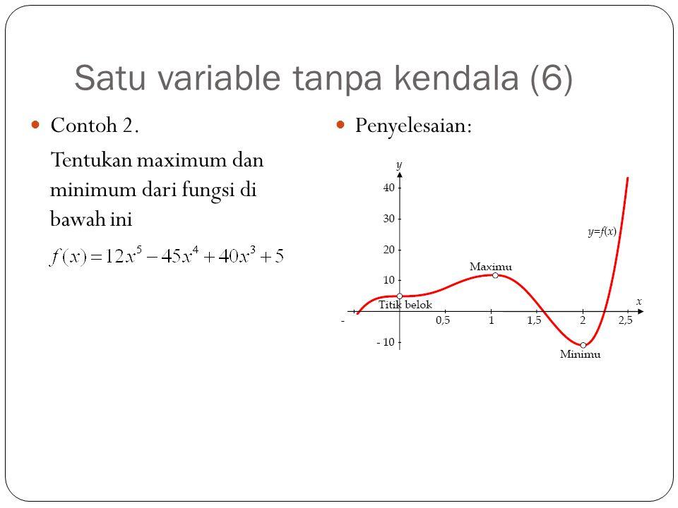 Satu variable tanpa kendala (6)