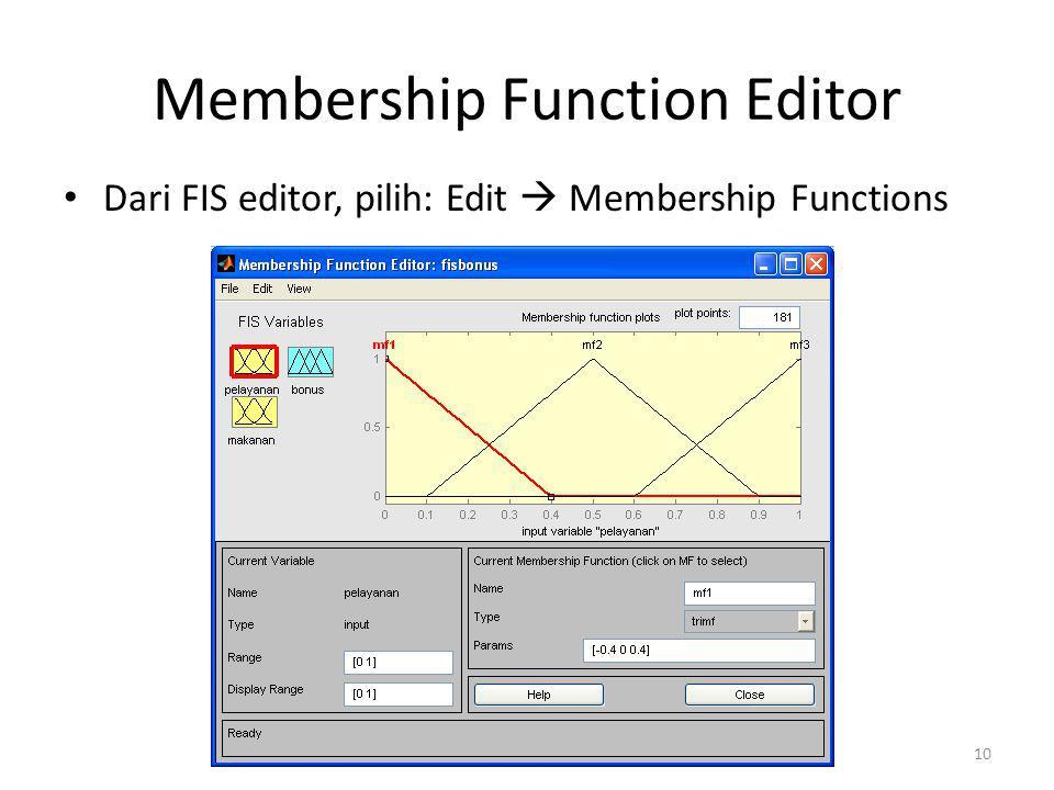 Membership Function Editor