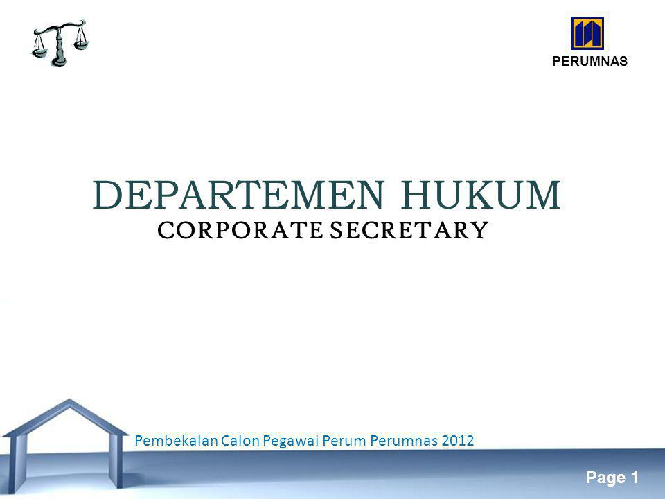 DEPARTEMEN HUKUM CORPORATE SECRETARY